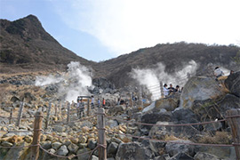 Ōwakudani volcanic valley